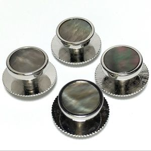 Other - 4 Silver and Abalone Tuxedo Shirt Studs